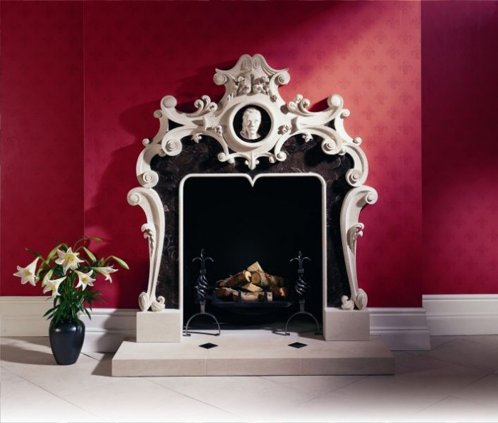 Intricate Portland Stone Fireplace by Ian Knapper