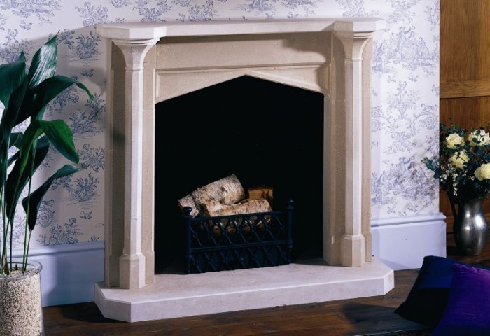 Traditional Portland Stone Fireplace by Ian Knapper