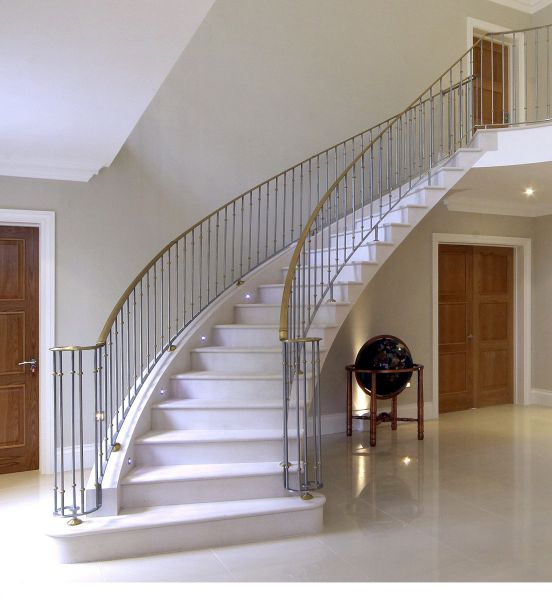 lighting natural stone staircases