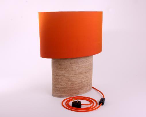 ian knapper stone lamp