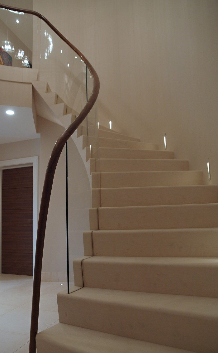 Modern Cantilever Stone Staircase