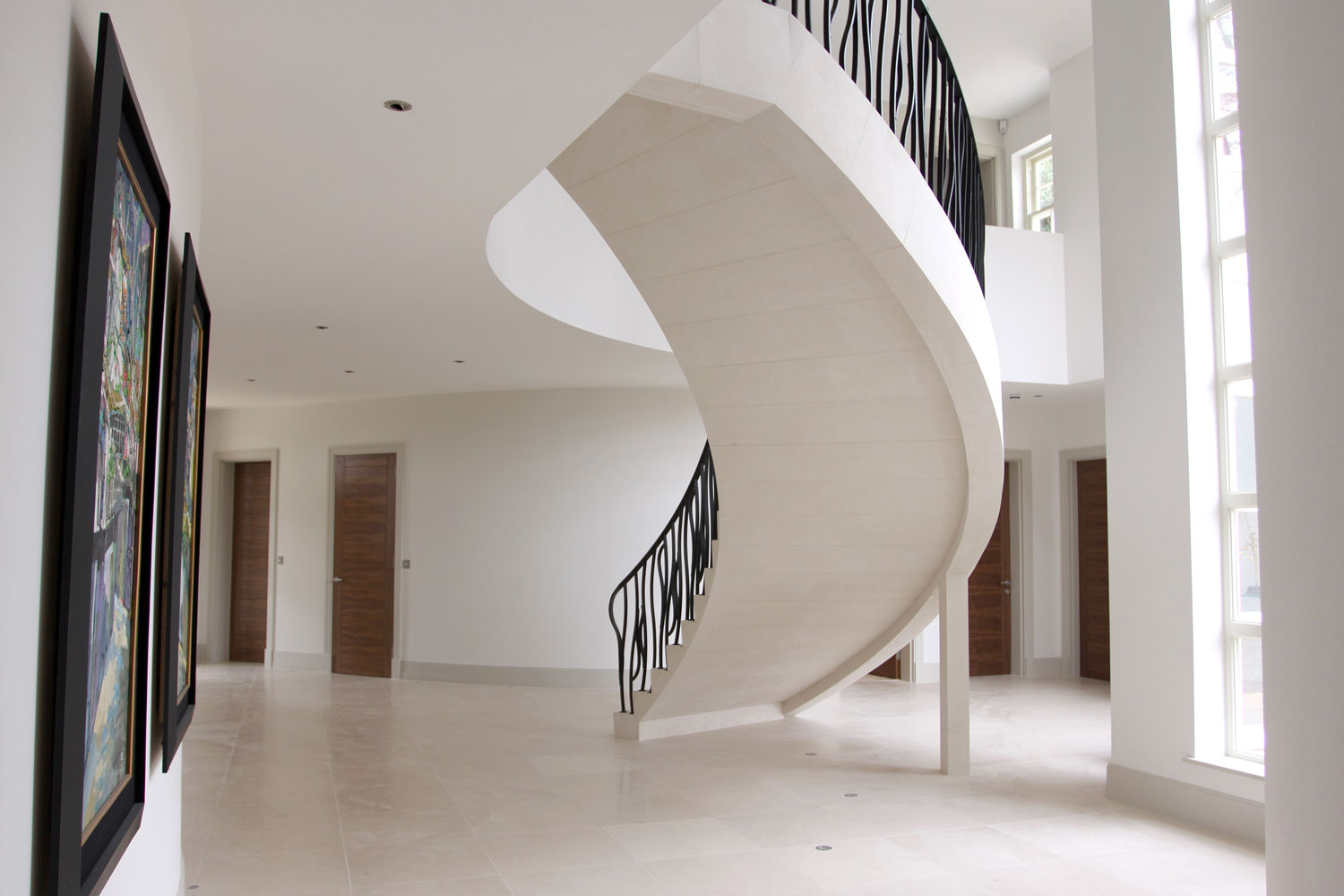 2. Floating steel supported Moleanos stone staircase – Hampshire
