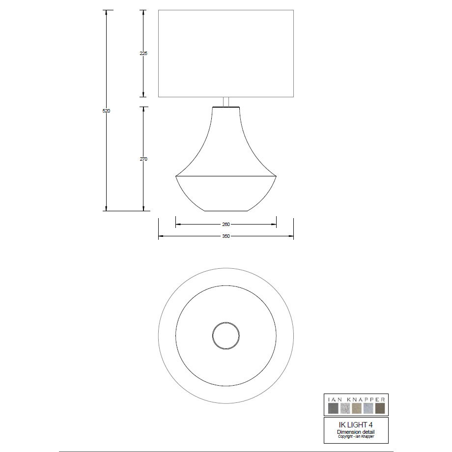Technical Drawing Large Curve Lamp Shape