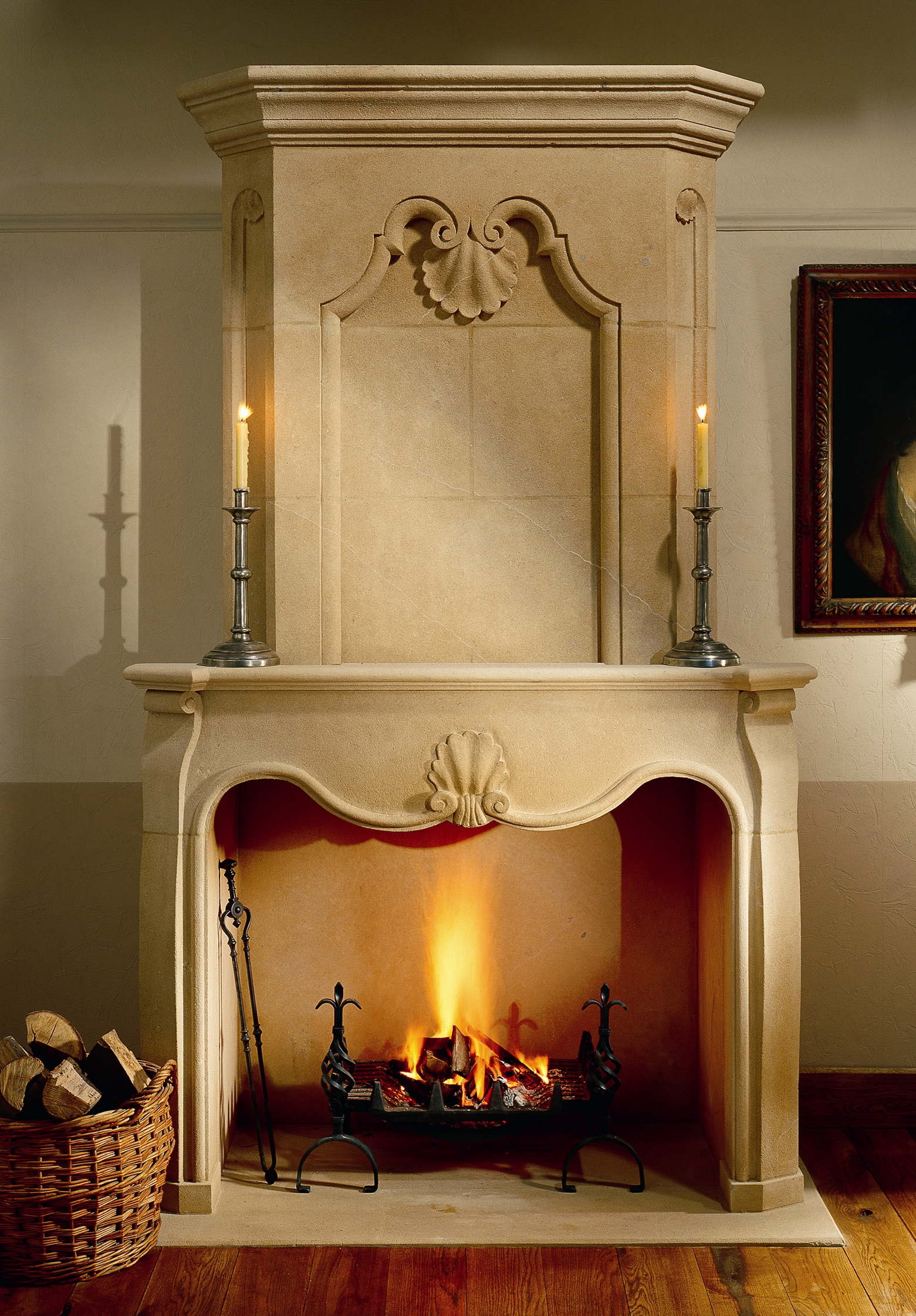 french louis style fireplace and chimney piece in bathstone