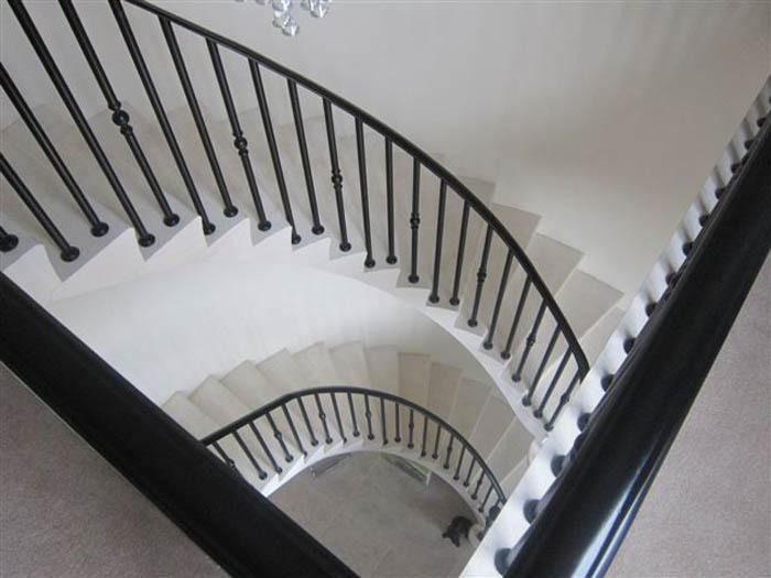 39. Moleanos stone, two-storey cantilever staircase – Lancashire