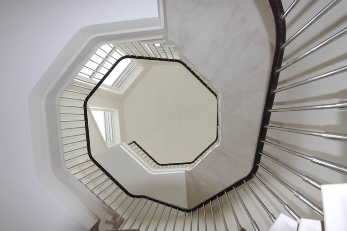 47. Two-storey, octagonal Rosal stone staircase – Nottinghamshire