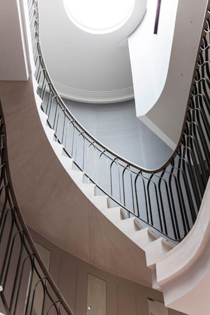 48. Two-storey, Malone stone staircase – Hertfordshire