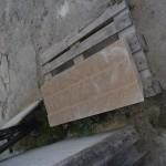 stone fireplace jamb
