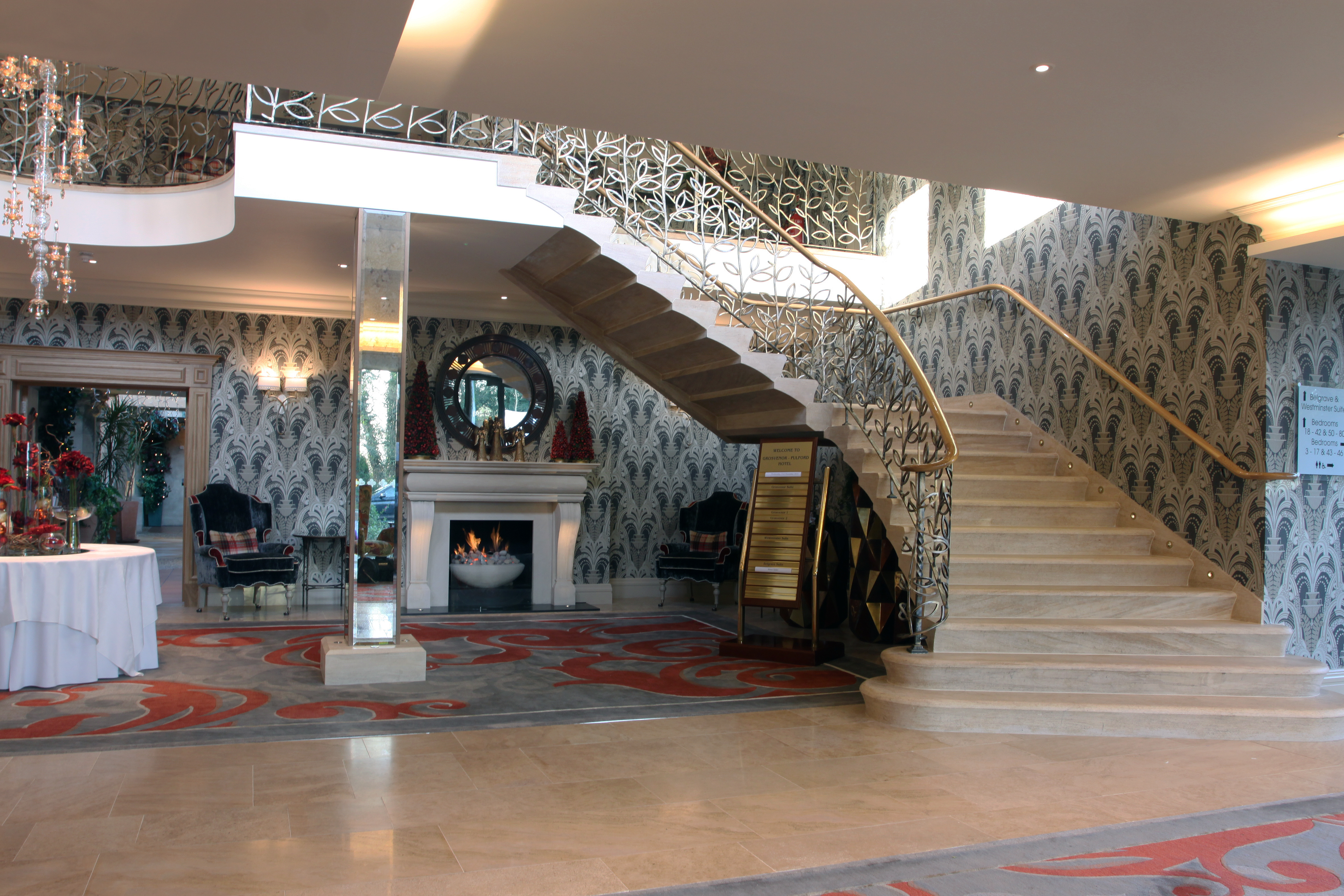 Ancaster Staircase, Fireplace and Flooring